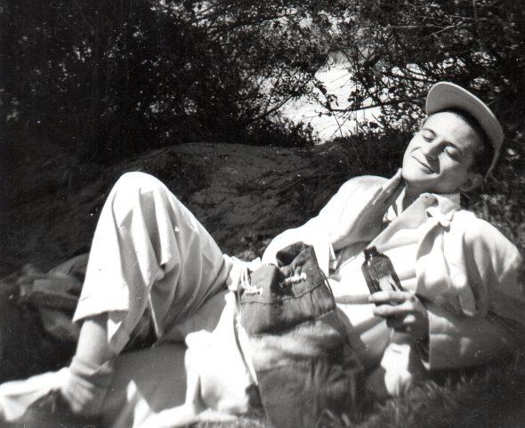 Agustín González en el campo. Foto del archivo familiar