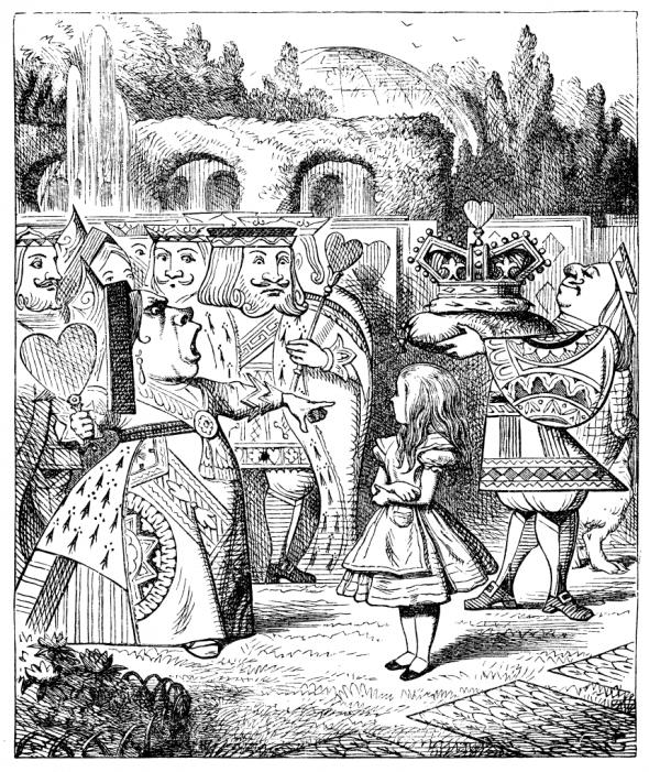 """Ilustración de """"Alicia en el país de las Maraviilas"""", por John Tenniel"""