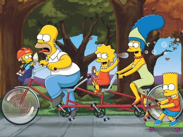Imagen promocional de la temporada número 22 de Los Simpson.