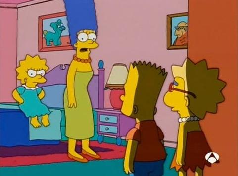 Bart y su amigo Millhouse explican su plan para suplantar a Lisa en el juicio. Cortesía de FOX TV y Antena 3