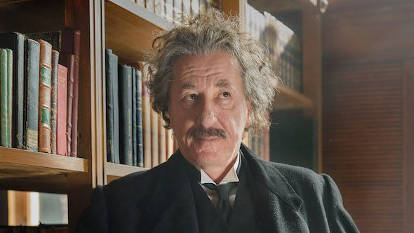 Geoffrey Rush interpreta a Albert Einstein en la serie Genius de National Geographic. Foto: National Geographic / Dusan Martincek.