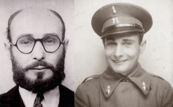 Dos imágenes del espía Juan Pujol.