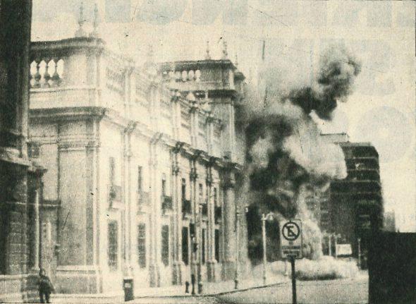 Golpe de Estado de Augusto Pinochet en Chile en 1973.