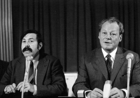 Günter Grass (izquierda) junto al canciller Willy Brandt