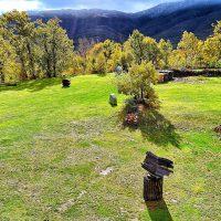 El prado de la APGALLERY con su galería de esculturas al aire libre.