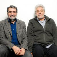 Joan Fontcuberta y Robert Pledge juntos en Madrid. Fotografía: Roberto Villalón.