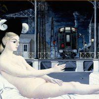 Paul Delvaux La edad de hierro, 1951 (L ́ Age de Fer) Óleo sobre tabla. 152 x 240 cm Mu.Zee, Ostende