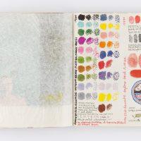 Suárez Londoño. 'Cuadernos bolivarianos'. Técnica mixta sobre papel.
