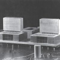 Así sería la Plaza de Castilla si hubieran ganado el primer premio del concurso los arquitectos Iñaki Ábalos y Juan Herreros en 1986.