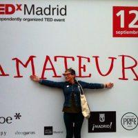 Una asistente a TEDxMadrid. Foto: Facebook de TEDxMadrid.