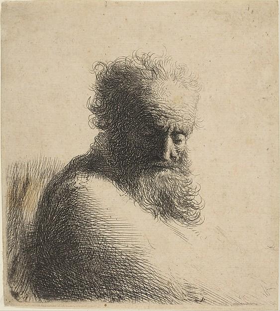 Grabado de Rembrandt (1606–1669 Amsterdam)