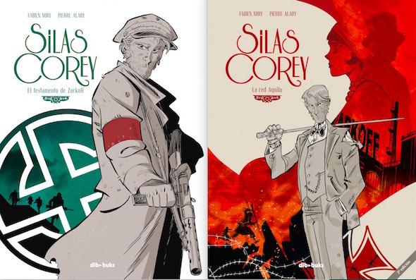 Dos portadas de los cómic de Silas Corey.