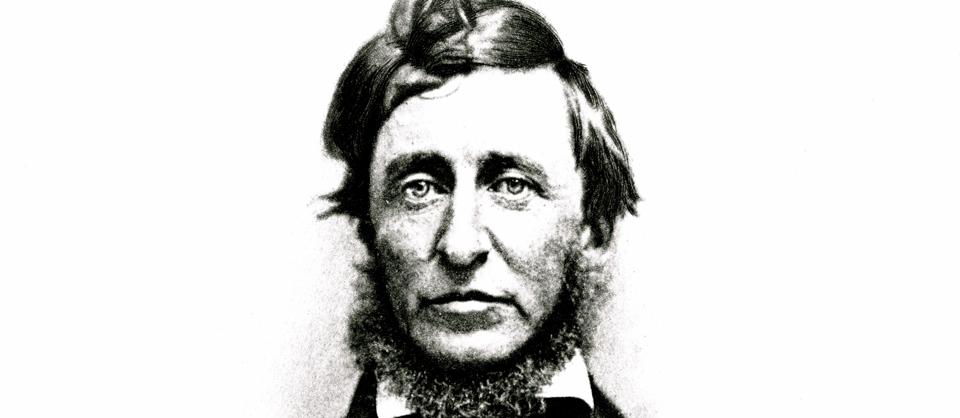 Retrato de Thoreau, padre de la ecología y la desobediencia civil.