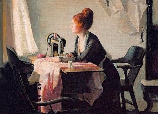 Detalle de la pintura 'Una ventana abierta' de Elizabeth Okie Paxton