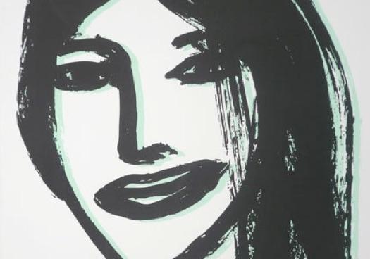 Retrato de mujer de Óscar Mariné.