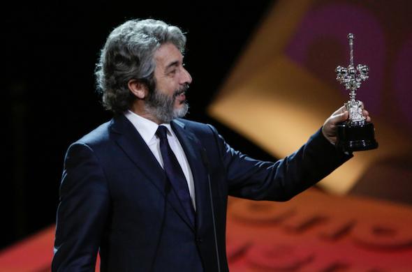 Ricardo Darín recoge su premio Donostia. Foto: Montse Castillo.
