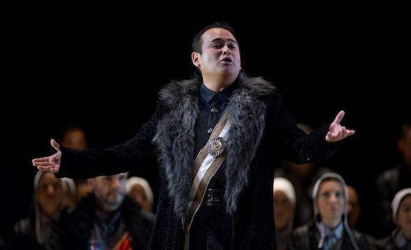 El tenor mexicano Javier Camarena en I Puritani de Bellini en 2016 en el Teatro Real. Foto: Javier del Real.