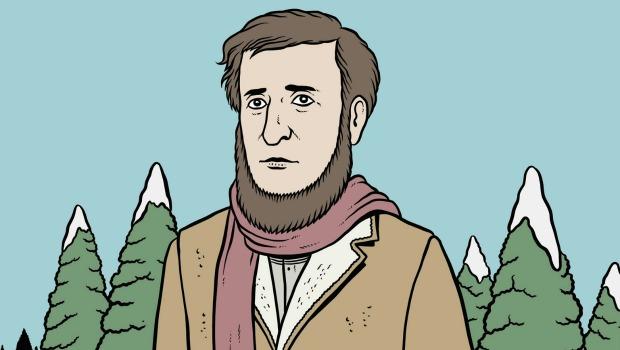 Un detalle de la portada de 'Un paseo invernal' de Thoreau editado por Errata Naturae.