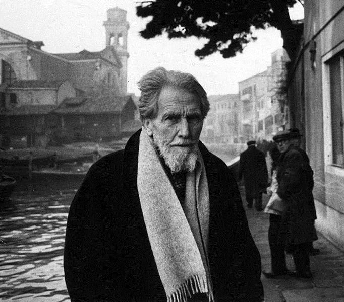El poeta Ezra Pound. Foto: Walter Mori.