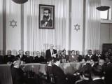 David Ben Gurion proclama la independencia de Israel, 1948